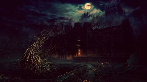 terror night fantasy art photoshop wallpapers hd