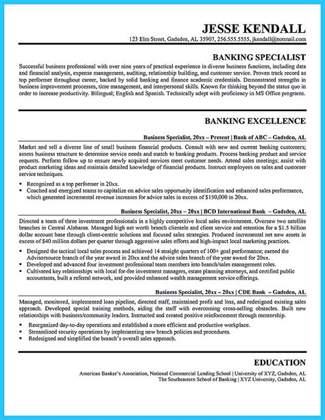 starting successful career from a great bank manager resume