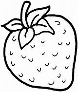 Coloring Strawberry Printable Strawberries Fruit Fruits sketch template