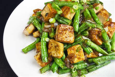 tofu  long bean stir fry asian inspirations