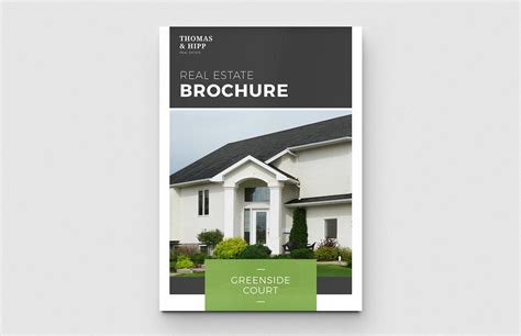 Estate Brochure Template by Real Estate Brochure Template Medialoot
