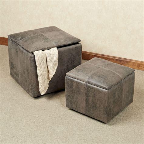 Gray Storage Ottoman by Nexus Gray Storage Ottoman Set