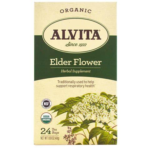 Alvita Teas Organic Elder Flower Tea Caffeine Free 24