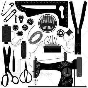 Retro Sewing Tool and Equipment for Tailor   GraphicRiver
