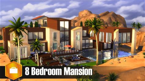 The sims 4 villa loilom fully furnished residential lot (40×30) designed by autaki available at the sims resource download villa loilom.medium house for yo. 8 Bedroom Mansion l Sims 4 House Build - YouTube