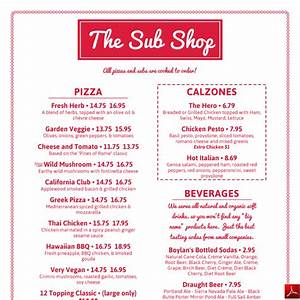 imenupro menu design samples and templates from menu With sandwich shop menu template