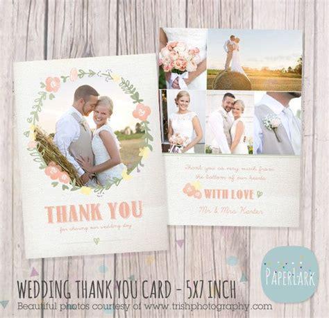 wedding thank you card photoshop template wedding thank you card photoshop template aw014