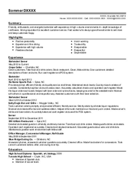 Golf Course Attendant Resume by Bartender Snack Bar Attendant Resume Exle Crestwood