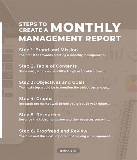 monthly management report templates   google