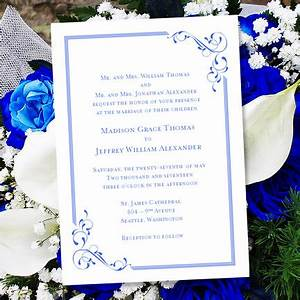 printable wedding invitation template quotelegancequot royal With wedding invitation designs color blue