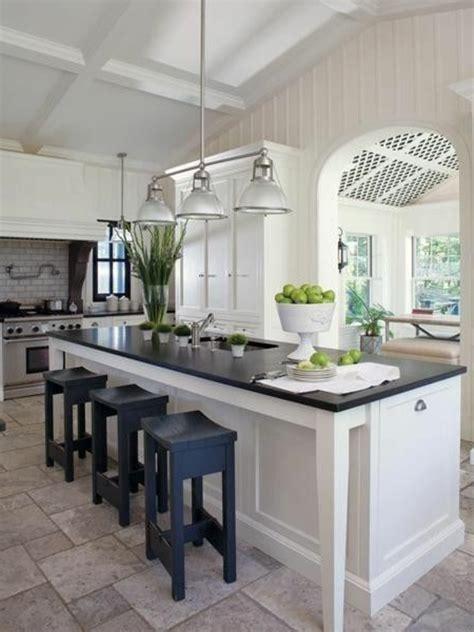 cuisine en l avec ilot central la cuisine avec îlot central idées de décoration et design