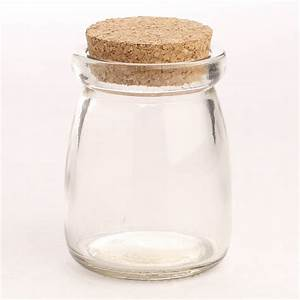 Small Corked Clear Glass Jar - Decorative Containers