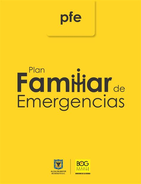 plan de emergencias familiar cartilla plan familiar de emergencias