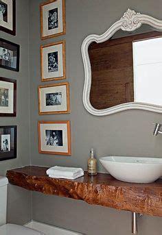 Moderne Gästebadezimmer by Waschtisch Holz Rustikaler Look Aufsatzwaschbecken