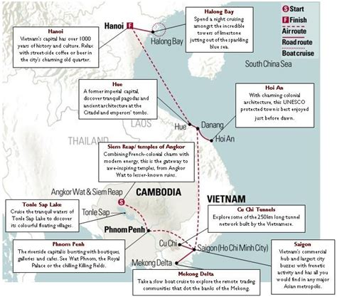 vietnam  cambodia map   week itinerary insider