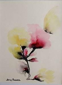 Bouquet Fleur De Coton : tableau bouquet fleur fleur de coton peinture aquarelle sur papier 300g peintures par ~ Teatrodelosmanantiales.com Idées de Décoration