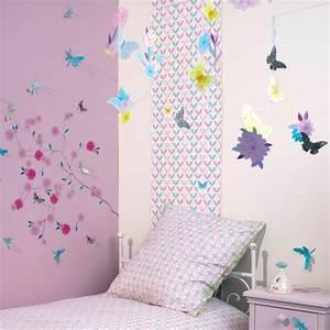 chambre fille papillon fleur djeco