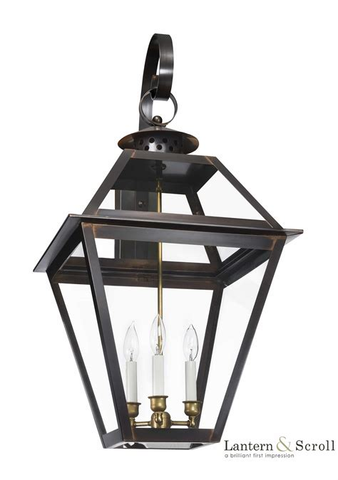 ch 42 wall light copper lantern gas and electric lighting