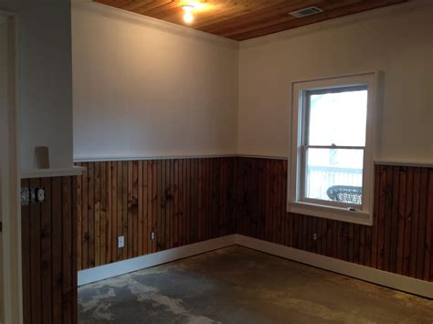 How To Paint Beadboard : Install And Custom Stained Trim, Beadboard, And Ceiling