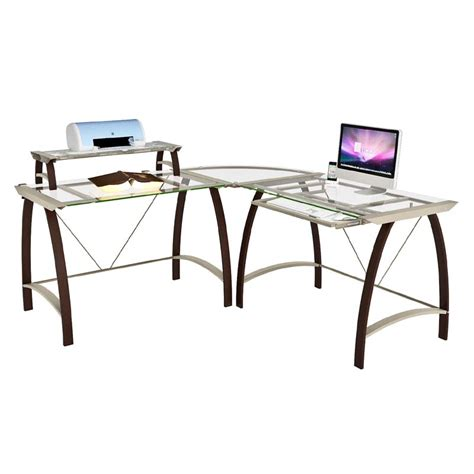 z line glass desk z line designs kayden corner desk with hutch espresso with