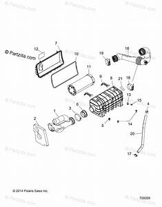 Polaris Side By Side 2018 Oem Parts Diagram For Engine  Air Intake System