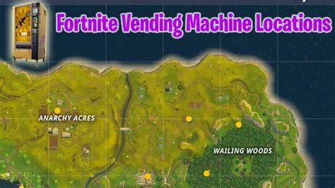 fortnite vending machine locations pinpointed