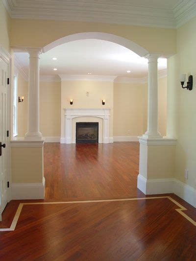 archway  dining room  living room coming  home