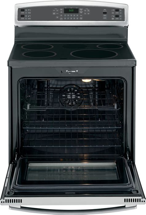 phbsfss ge profile series   standing induction  convection range  warming