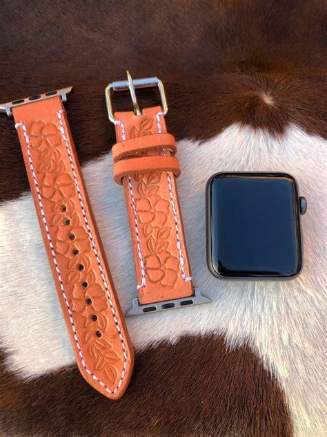 florecita tooled leather apple  band natural