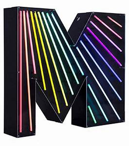 Graphic Collection  U2010 Letter M Neon Delightfull