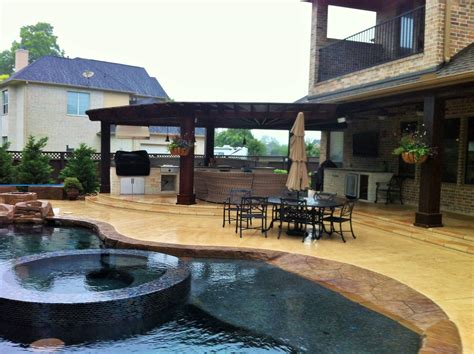 pool and outdoor kitchen designs katy pool design houston pool builder fulshear outdoor living 7523