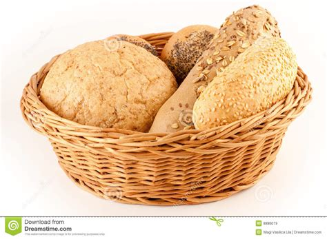 Different Types Of Bread In A Basket Royalty Free Stock
