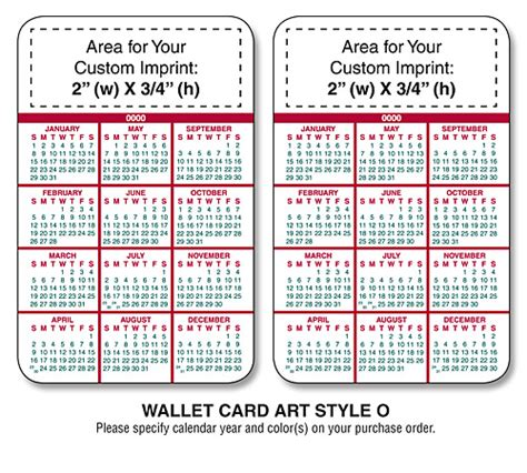 promotional laminated wallet cards wallet calendar cards
