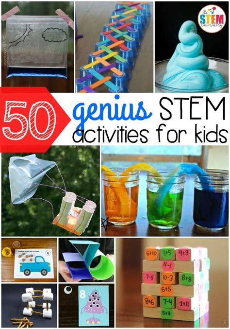 50 genius stem activities for the stem laboratory 122 | 50 genius STEM activities for kids So many fun science technology engineering and math ideas in one spot. Perfect for preschool kindergarten first grade or second grade.
