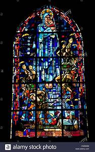 Stained Glass Window In Eglise Stock Photos & Stained ...