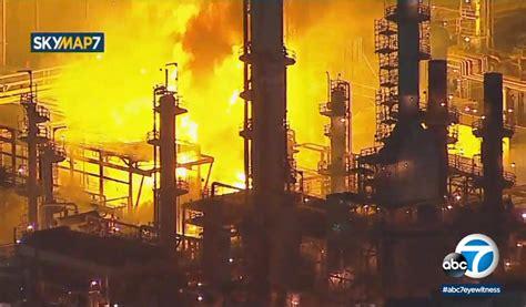 los angeles area refinery fire