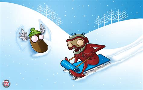 plants  zombies winter wallpapers