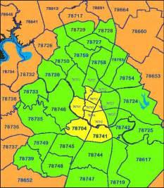 Zip Code Map Austin Texas Area