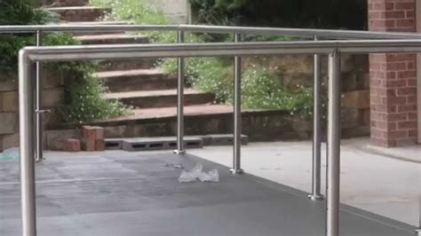 install diy stainless steel posts  handrails