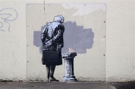 Banksy art in Folkestone vandalised by graffiti | The ...