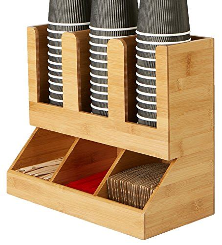 Keep sugar packets and creamers organized and in the same location! Coffee Station Condiment Shelf Organizer for Office Home Breakroom Table bamboo | eBay