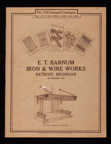 e t barnum iron wire works general catalogue no 710