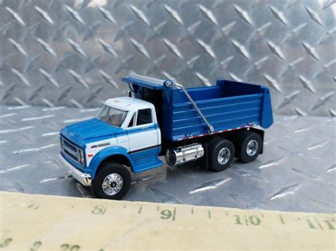 Custom Construction Chevrolet Blue White Dump