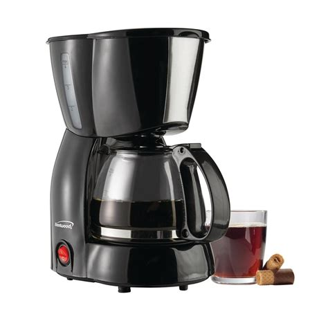 Does walmart offer valuable coffee? Brentwood TS-213BK 4 Cup Coffee Maker, Black - Walmart.com