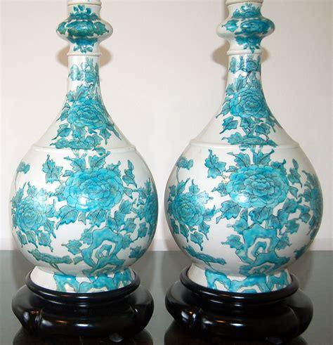 beautiful flowered porcelain lamps   marbro lamp