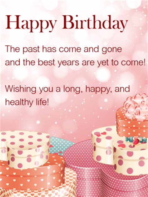 wishing   happy life happy birthday wishes card