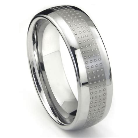 Tungsten Carbide Polka Wedding Band Ring