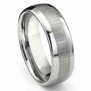 tungsten carbide polka wedding band ring With wedding ring tungsten
