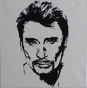Peinture En Noir Et Blanc : johnny en noir et blanc peinture johann mastil ~ Melissatoandfro.com Idées de Décoration