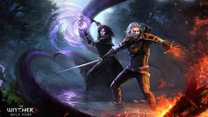 Witcher Yennefer Geralt 4k Rivia Gwent Fan